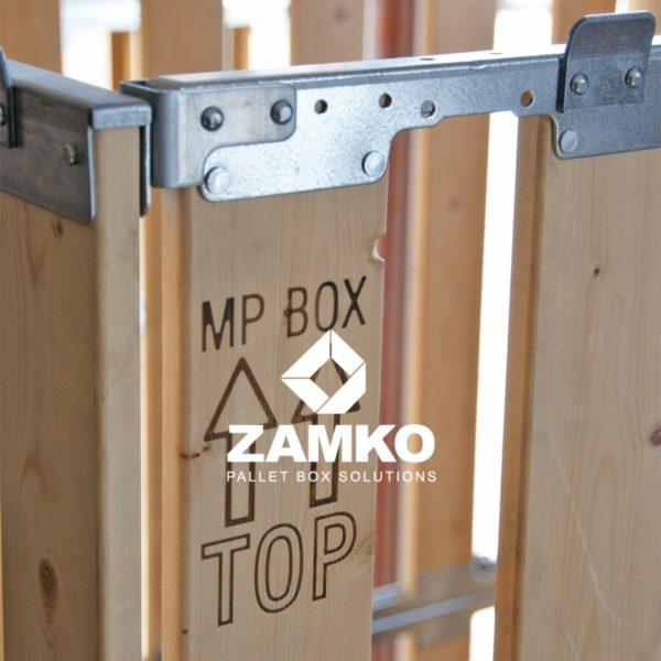 Hoge Palletbox met klepraam