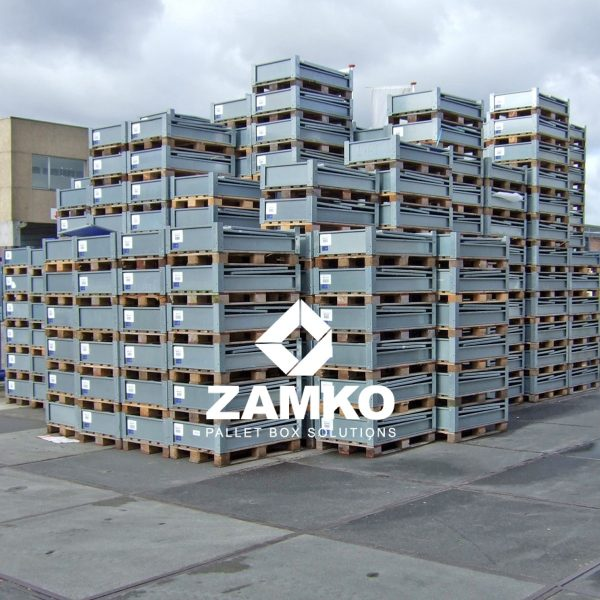 Pallet containers plastic foldable