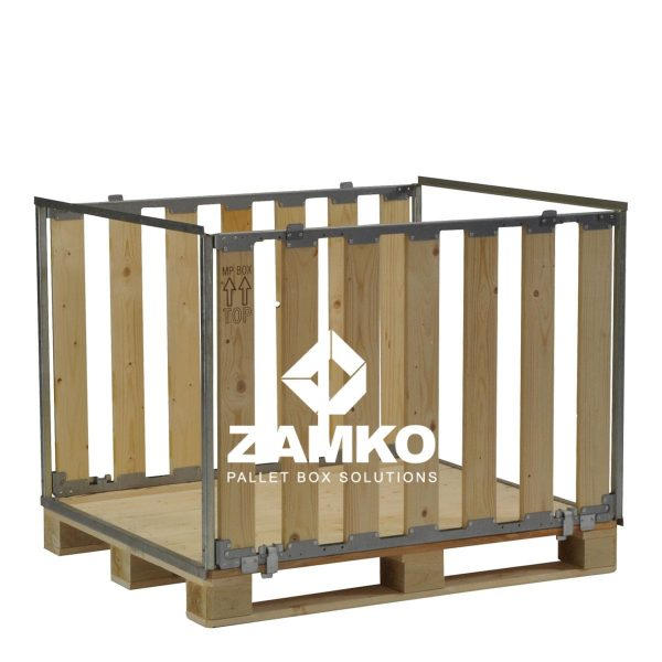 Pallet box with open sides