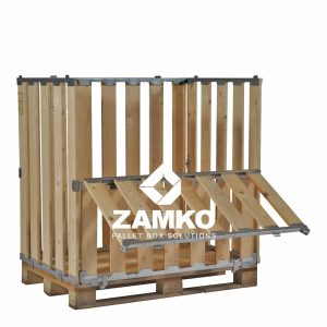 Palletcontainer met klepraam