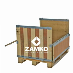 Collapsible pallet boxes for order picking