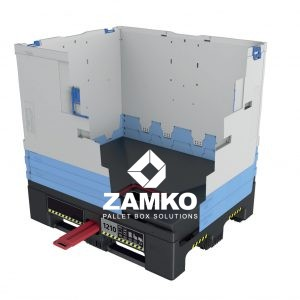 Palletbox inklapbaar met dosserbare Trechterbodem met onderlossing