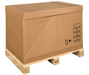 Export packaging in cardboard