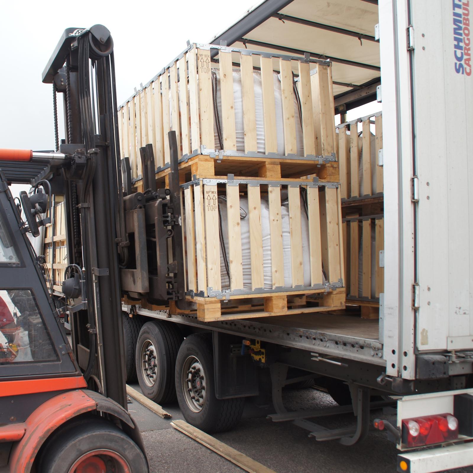 Bigbag - snel laden van vrachtwagen