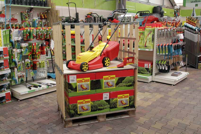 Instore retail palletbox - Produkt-Display