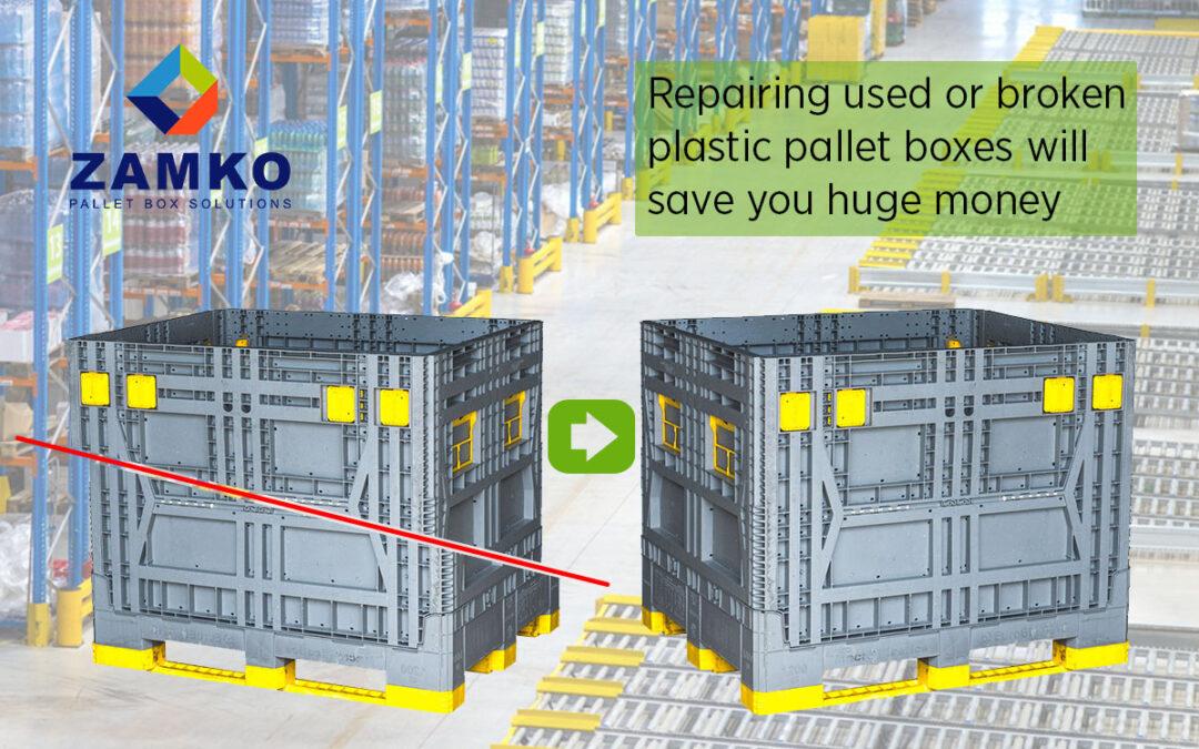 Hoe kan het repareren van gebruikte kunststof palletboxen uw bedrijf enorm veel geld besparen?